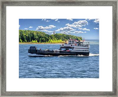 Washington Island Ferry Robert Noble Door County Framed Print by Christopher Arndt