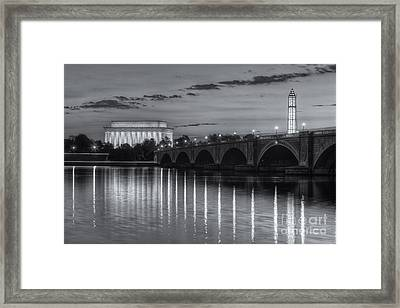 Washington Landmarks At Dawn II Framed Print