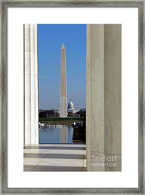 Washington Landmarks Framed Print by Olivier Le Queinec