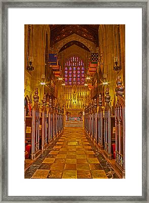 Washington Memorial Chapel Altar Framed Print