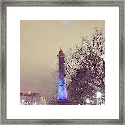 Washington Monumen Pre-lighting Framed Print