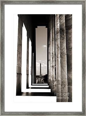 Framed Print featuring the photograph Washington Monument by Angela DeFrias