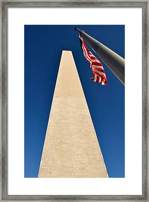 Washington Monument At Us Nation Capital Framed Print by Brandon Bourdages