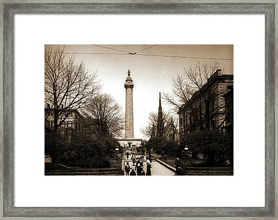Washington Monument, Baltimore, Jackson, William Henry Framed Print by Litz Collection