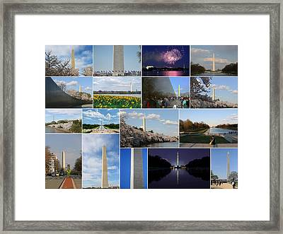 Washington Monument Collage 2 Framed Print by Allen Beatty