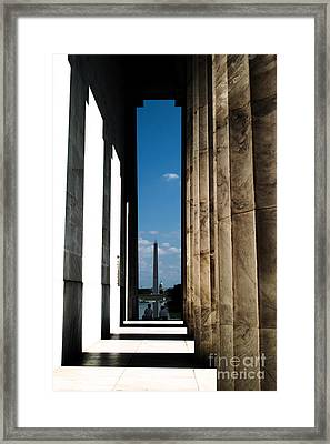 Framed Print featuring the photograph Washington Monument Color by Angela DeFrias