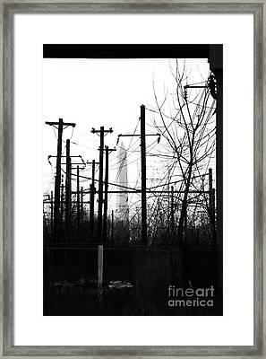 Washington Monument From The Train Yard. Washington Dc Framed Print