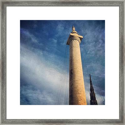 Framed Print featuring the photograph Washington Monument by Toni Martsoukos