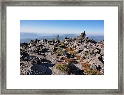 Washington Mount Saint Helens Monitor Framed Print by Matt Freedman