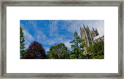 Framed Print featuring the photograph Washington National Cathedral by Michael Donahue