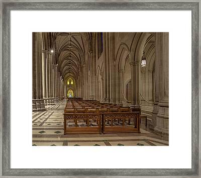 Washington National Cathedral Nave Framed Print