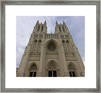Washington National Cathedral - Washington Dc - 01131 Framed Print