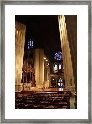 Washington National Cathedral - Washington Dc - 011314 Framed Print by DC Photographer