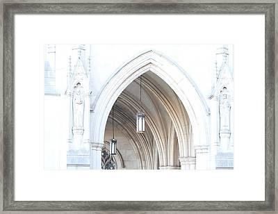 Washington National Cathedral - Washington Dc - 01138 Framed Print