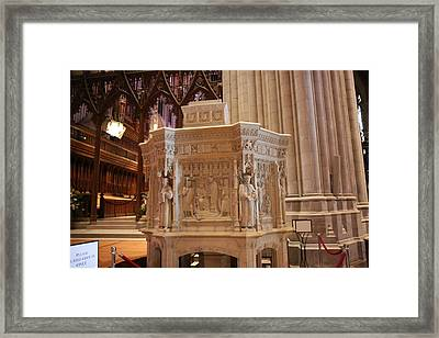 Washington National Cathedral - Washington Dc - 011395 Framed Print