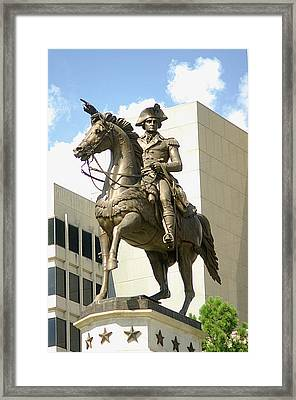 Washington On His Horse Framed Print by Suzanne Powers