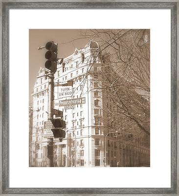 Framed Print featuring the photograph Washington by Paula Brown