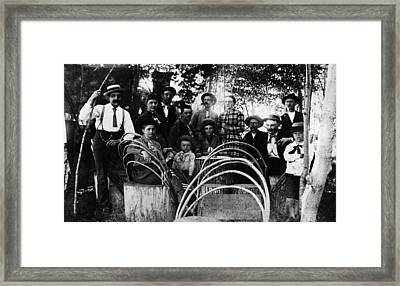 Framed Print featuring the photograph Washington Pioneers, C1900 by Granger