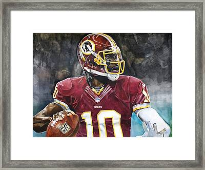 Washington Redskins' Robert Griffin IIi Framed Print by Michael  Pattison