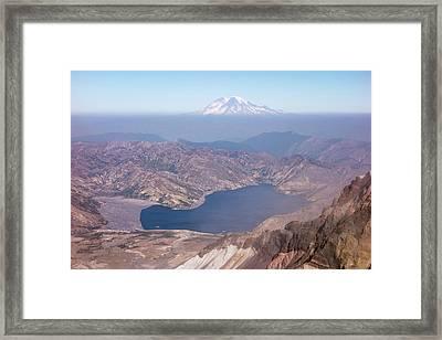 Washington Spirit Lake And Mount Framed Print