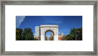 Washington Square Arch In Washington Framed Print
