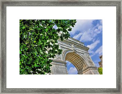 Washington Square Arch Profile View Framed Print
