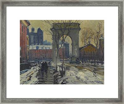 Washington Square Framed Print by Celestial Images