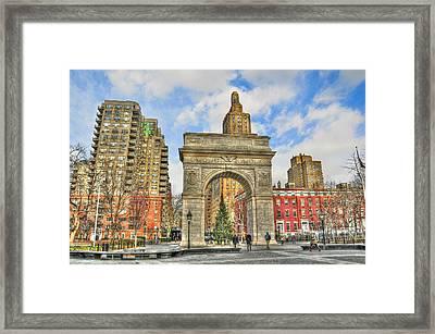 Washington Square In December Framed Print