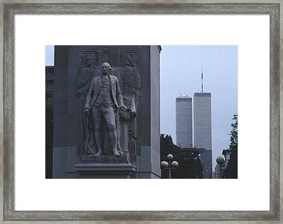 Washington Square Park Arch Twin Towers Framed Print by Tom Wurl