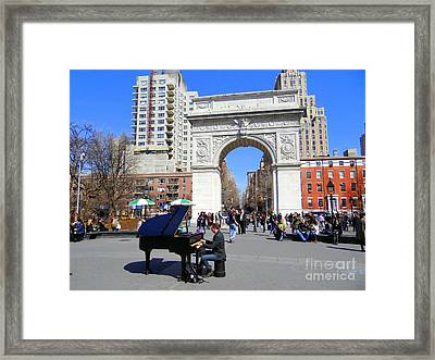Washington Square Pianist Framed Print by Ed Weidman