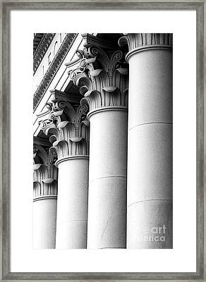 Washington State Capitol Columns Framed Print