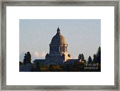 Washington State Capitol II Framed Print by Susan Parish