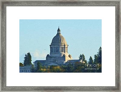 Washington State Capitol Framed Print