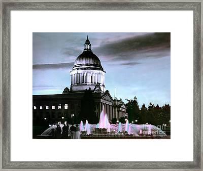 Washington State Capitol Tivoli Fountain 1950 Framed Print