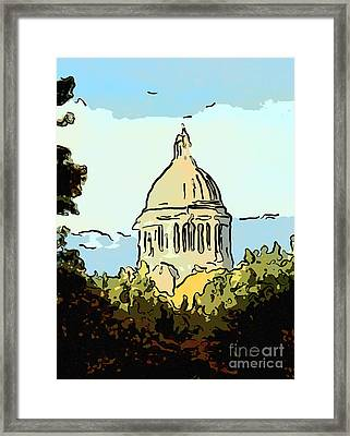 Washington State Legislative Building Abstract Framed Print