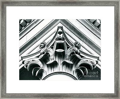 Washington State Legislative Building Column Framed Print