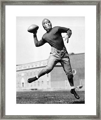 Washington State Quarterback Framed Print by Underwood Archives