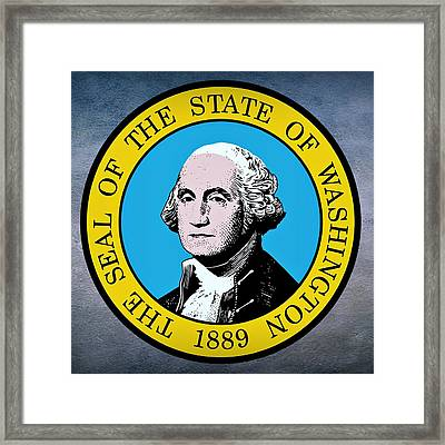 Washington State Seal Framed Print by Movie Poster Prints