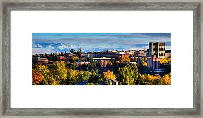 Washington State University In Autumn Framed Print