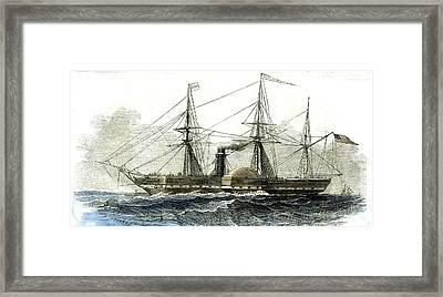 Washington Steamship Vessel Boat 1847 Line Between New York Framed Print by American School