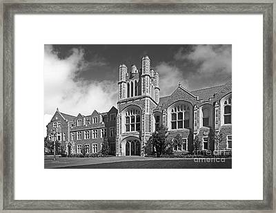 Washington University Anheuser- Busch Hall Framed Print by University Icons