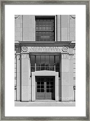 Washington University Givens Hall  Framed Print