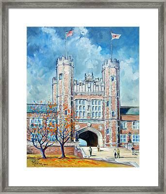 Washington University St.louis - Fall Framed Print