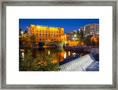 Washington Water Power Framed Print by Inge Johnsson