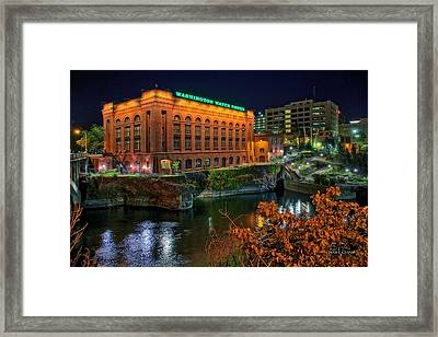 Washington Water Power On The Falls Framed Print by Dan Quam