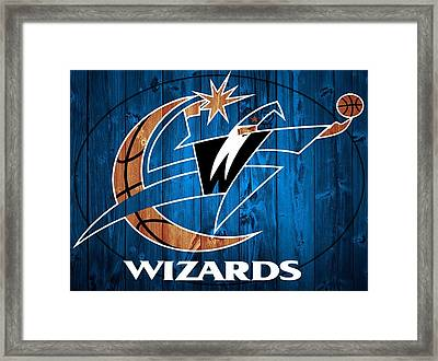 Washington Wizards Barn Door Framed Print by Dan Sproul