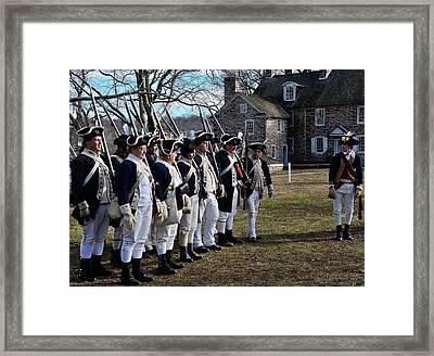Washington's Crossing Continentals Framed Print