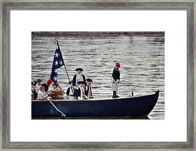 Washington's Crossing Washington's Boat Framed Print