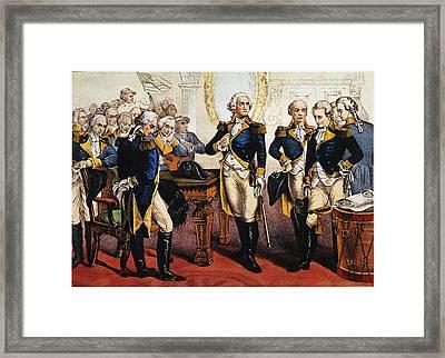Washingtons Farewell Framed Print by Granger