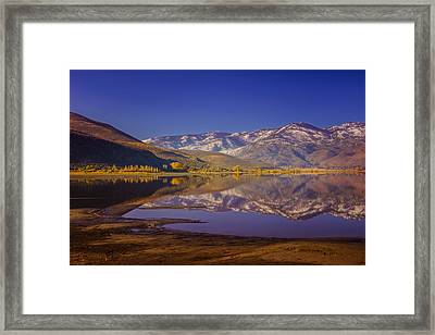 Washoe Lake In Late Fall Framed Print by Janis Knight